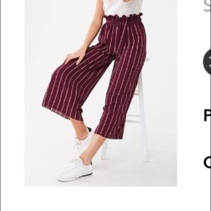Striped paperbag culottes